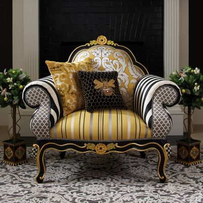 MacKenzieChilds  Queen Bee Pillow