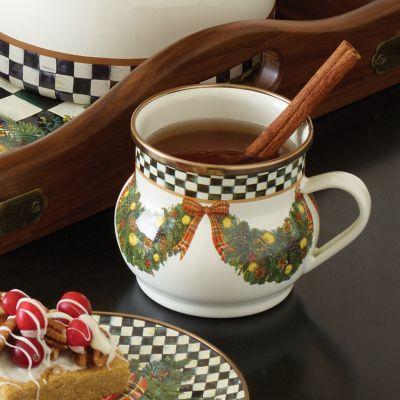MacKenzieChilds  Evergreen Enamel Mug