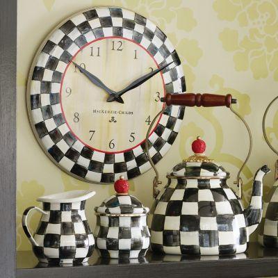 MacKenzieChilds  Courtly Check Enamel Clock