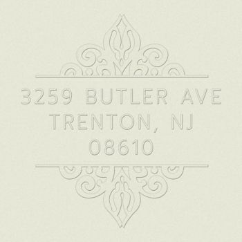 ornate return address embosser