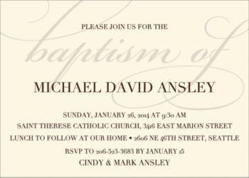 script baptism invitation