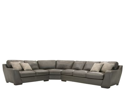 raymour and flanigan leather living room furniture wall paintings carpenter 3-pc. sectional sofa w/ queen sleeper ...