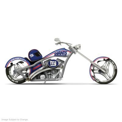 NFL New York Giants Motorcycle Figurine: Cruising With The