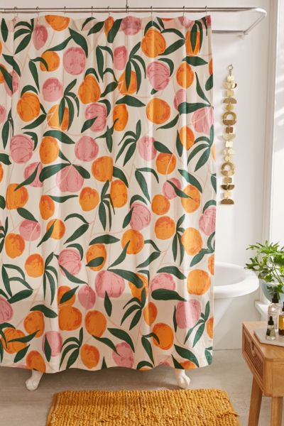 allover fruits shower curtain