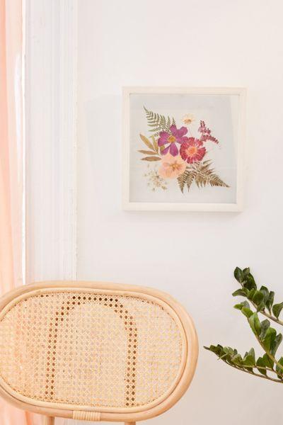 pressed floral 12x12 frame