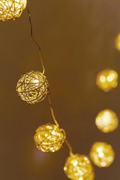 woven globe string lights