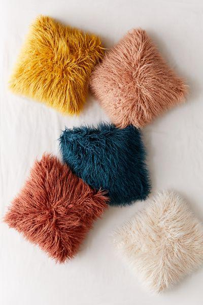 Mila Faux Fur Throw Pillow Urban Outfitters
