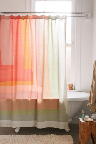 mae patchwork print shower curtain