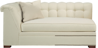 armless sofas wooden sofa frame kent made to measure tufted left arm facing corner from