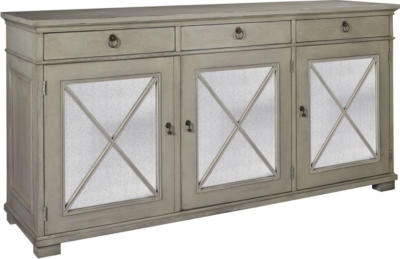 hickory chair co white leather armless deauville sideboard from the suzanne kasler collection by