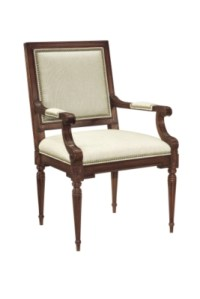 Louis XVI Square Back Arm Chair from the Atelier ...