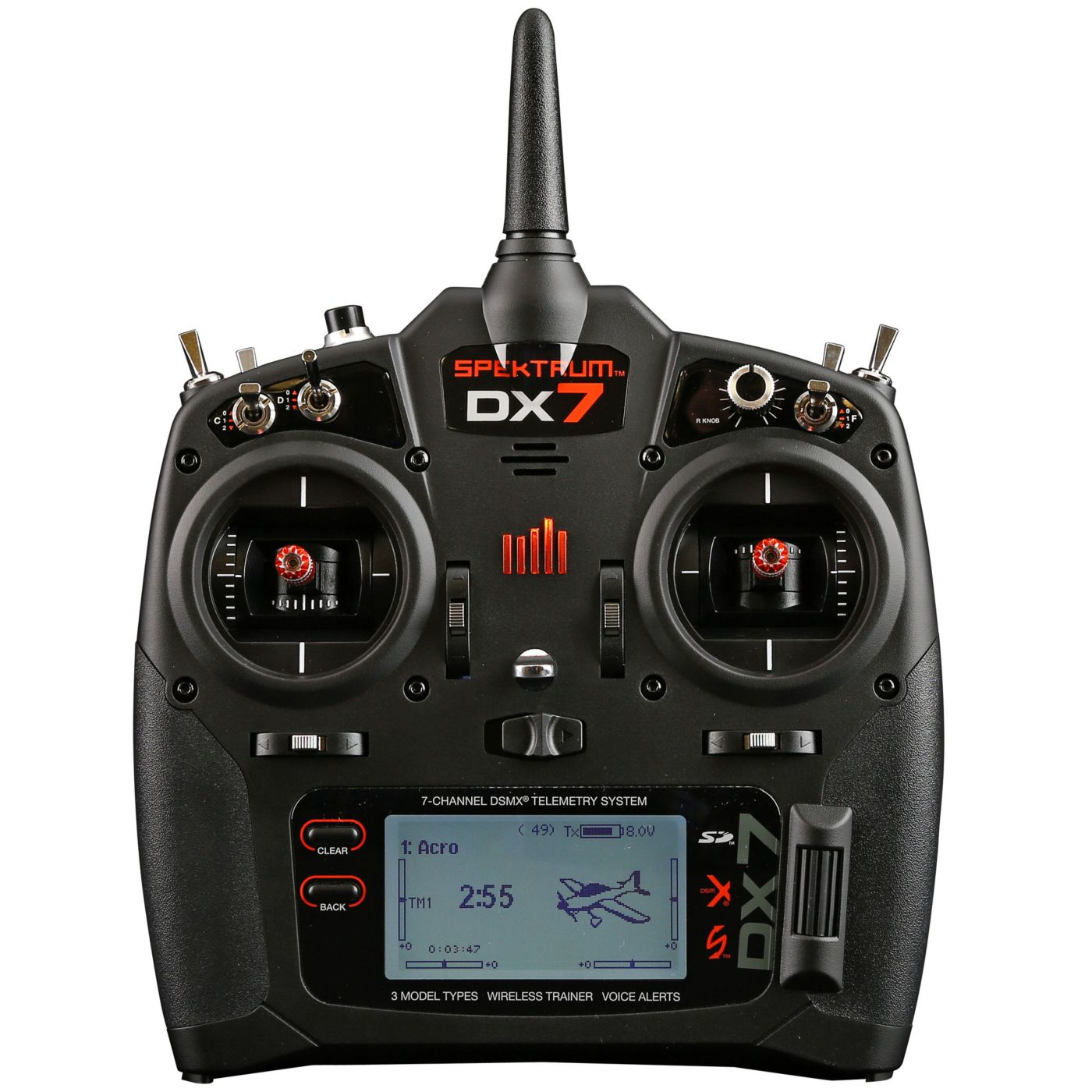 hight resolution of image for dx7 7 channel dsmx transmitter gen 2 with ar8000 mode 2 from