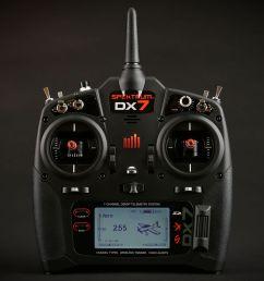 dx7 7 channel dsmx transmitter gen 2 with ar8000  [ 1400 x 1400 Pixel ]