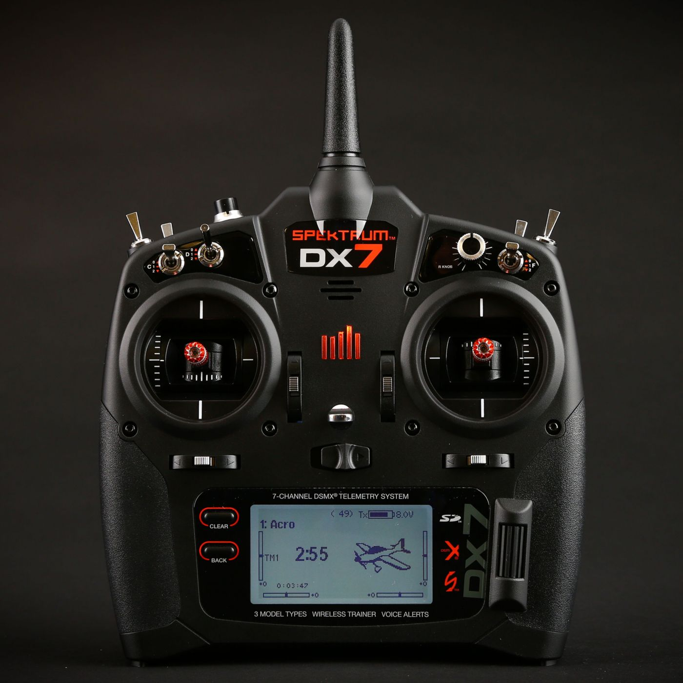 hight resolution of  dx7 7 channel dsmx transmitter gen 2 with ar8000