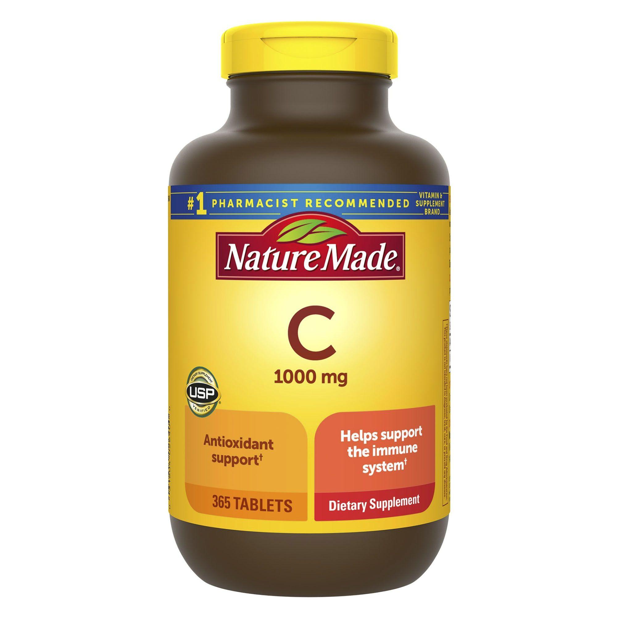 Nature Made 1 000mg Vitamin C Tablets 365 Ct Bjs Wholesale Club
