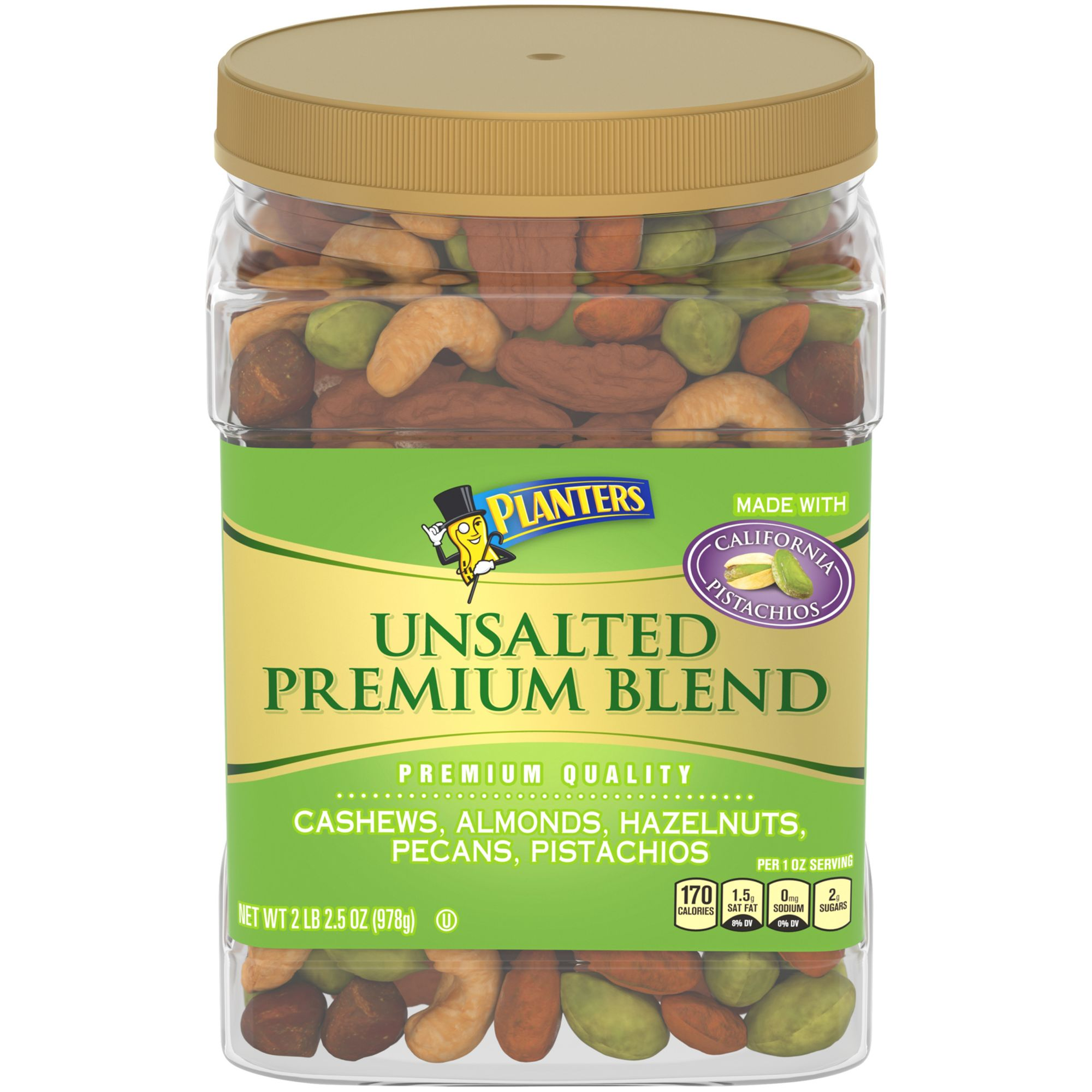 Planters Unsalted Premium Blend Mixed Nuts 345 oz BJs