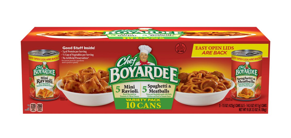 chef boyardee cans mini