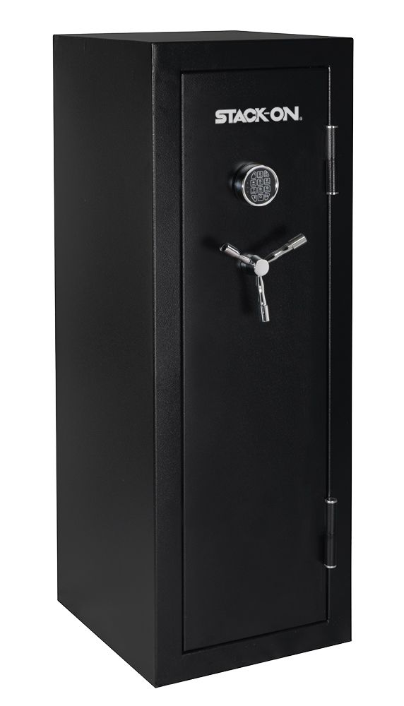 Stack On Fs Series 18 Gun Fireproof Safe With Electronic Lock Black Pebble