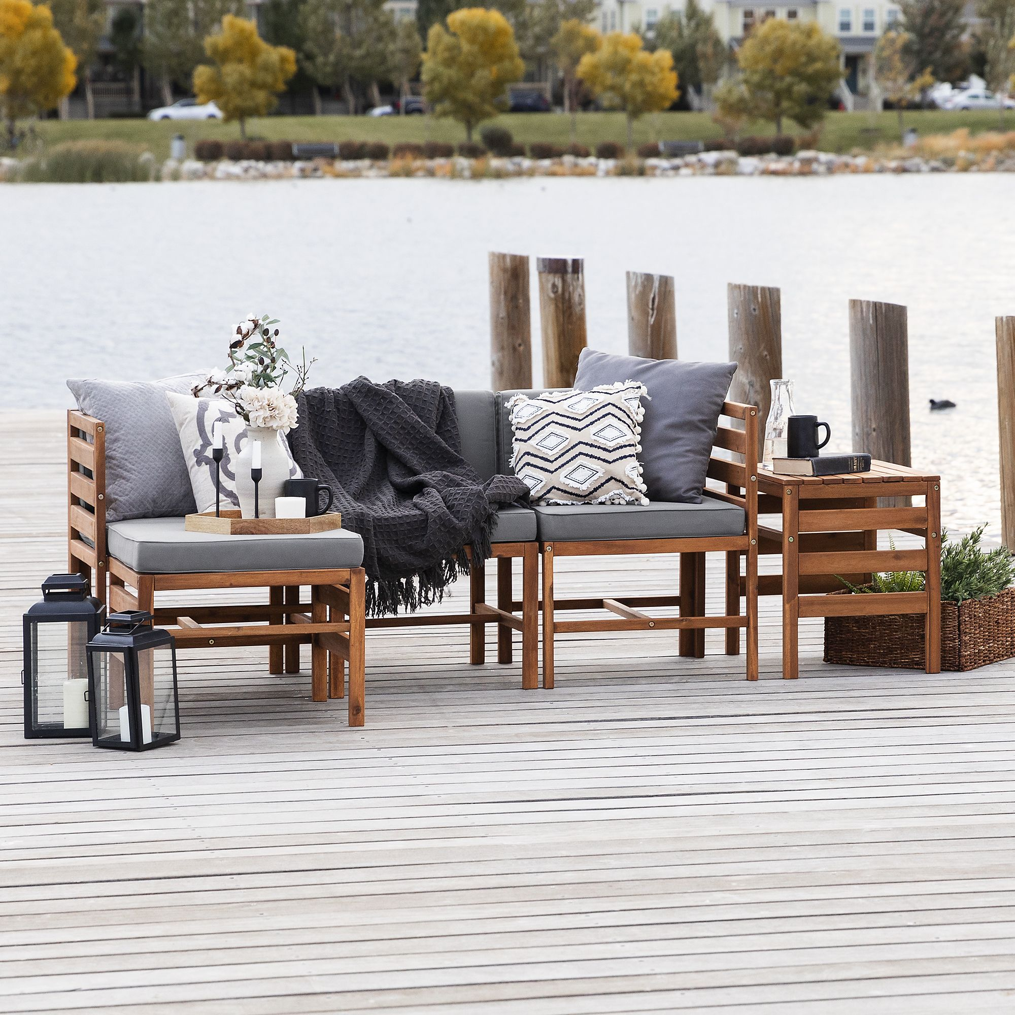 w trends w trends 5 pc patio acacia chat set brown from bj s wholesale club international business times shop