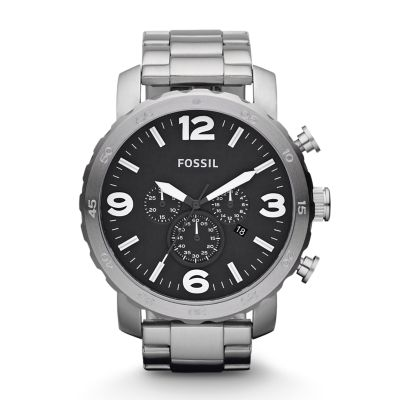 Fossil Nate Chronograph Stainless Steel Watch Jr1353