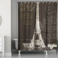 Buy Black and White Fabric Shower Curtains from Bed Bath ...