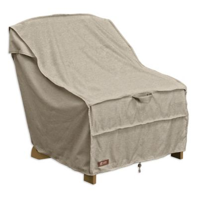 fitted chair covers for cheap rent a lift buy bed bath beyond classic accessories montlake adirondack patio cover in grey
