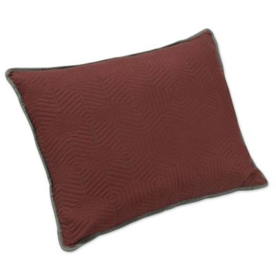 buy red quilted pillow