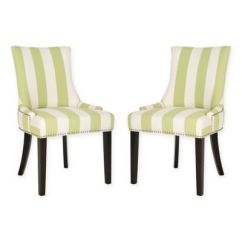 Striped Dining Chair Fabric Buy Chairs Bed Bath Beyond Safavieh Lester In Multi Stripe Set Of 2