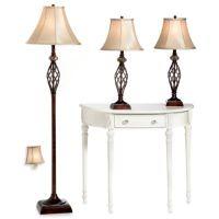 Bridge Street 3-Piece Marble Twist Lamp Set - Bed Bath ...