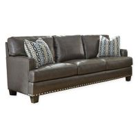 Steve Silver Co. Patrese Leather Sofa in Grey - Bed Bath ...