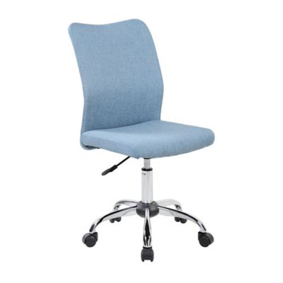 desk chair cover sleeper twin buy office covers bed bath beyond techni mobili armless task in blue jean