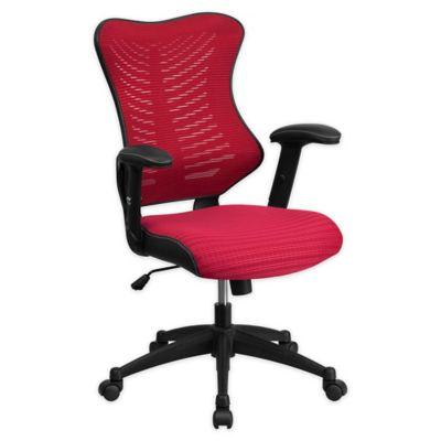 lexmod focus edge desk chair hanging vancouver buy mesh office bed bath beyond flash furniture high back in burgundy