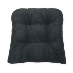 Black Chair Pads Used Covers Buy Bed Bath Beyond Therapedic Tyler Pad In