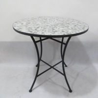 Mosaic Tile Bistro Table in Grey - Bed Bath & Beyond