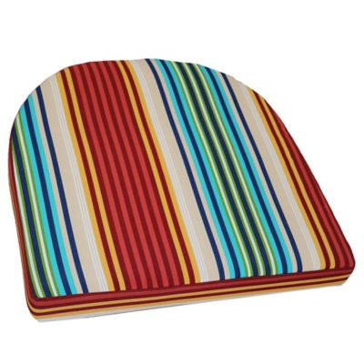 patio chair pads rocking kids buy seat cushions bed bath beyond outdoor striped wicker cushion
