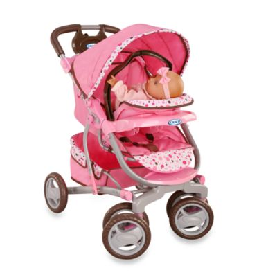 Graco Doll 3 In 1 Travel System By Tollytots Pink