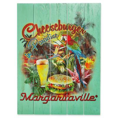 Margaritaville Cheeseburger In Paradise Outdoor Wall Art