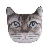 Cat Face Throw Pillow in Grey - Bed Bath & Beyond