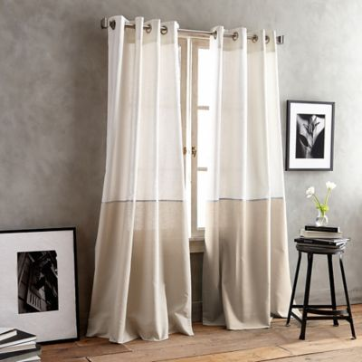DKNY Color Band Grommet Top Window Curtain Panel Bed Bath Amp Beyond