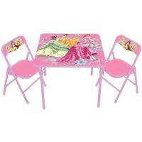 Disney Princess 3-Piece Activity Table and Chairs Set ...