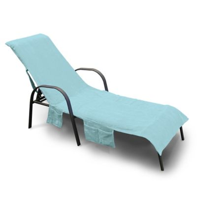 beach chair cover pier one rocking buy covers bed bath beyond ultimate chaise lounge in blue
