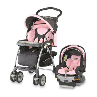 Chicco KeyFit 30 Cortina Travel System in Bella Pink