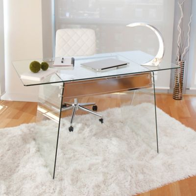 LumiSource Glacier Desk  Bed Bath  Beyond