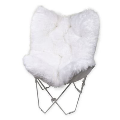 Faux Fur Butterfly Chair  Bed Bath  Beyond