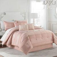 Matte Satin Pleat Comforter Set - Bed Bath & Beyond