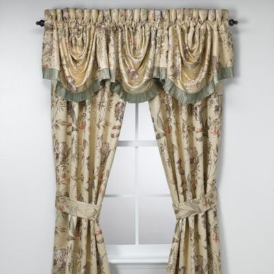 Croscill Window Curtain Panel Pair and Valance  Bed Bath