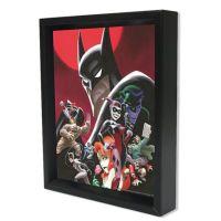 DC Comics Batman Animated Cast Framed 3D Lenticular ...