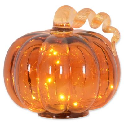 LED Glass Pumpkin  Bed Bath  Beyond