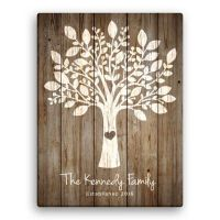 Family Tree Personalized Canvas Wall Art - Bed Bath & Beyond