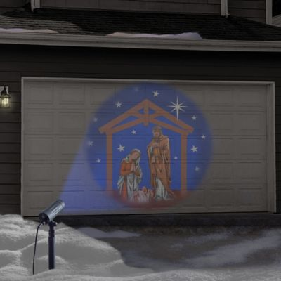 outdoor kitchen cost build table winter wonderland holiday nativity set led projector - bed ...